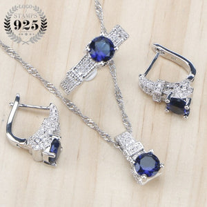 925 Sterling Silver  Set  with Ring , Earrings, Necklace BEST SALE