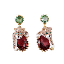 Load image into Gallery viewer, Leopard Red Cristal Sexy Elegant Women Earrings .