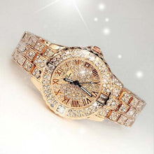 Load image into Gallery viewer, Lady Dress Women watch - Luxury brand  Comes  with a GIFT BRACELET