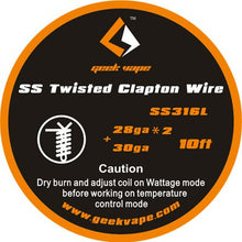 Load image into Gallery viewer, GeekVape SS Twisted Clapton TC Wire
