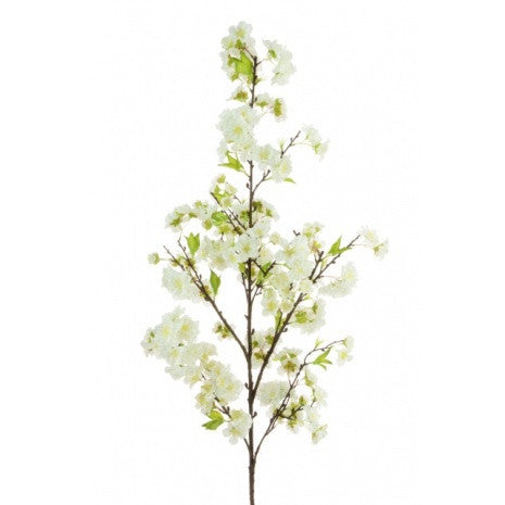 Artificial Japanese Blossom Spray, 120cm, White