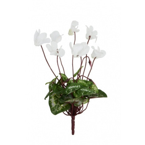 Artificial Cyclamen Bush, White