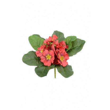 Artificial Primula Bush, Red
