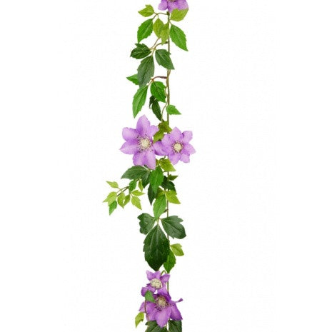 Artificial Clematis Garland, Lilac