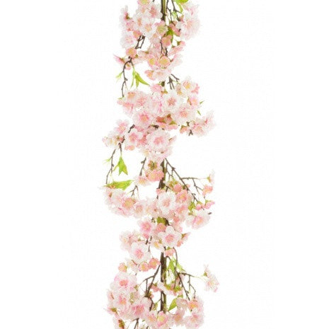 Artificial Japanese Blossom Luxury Garland, Pink, 120cm