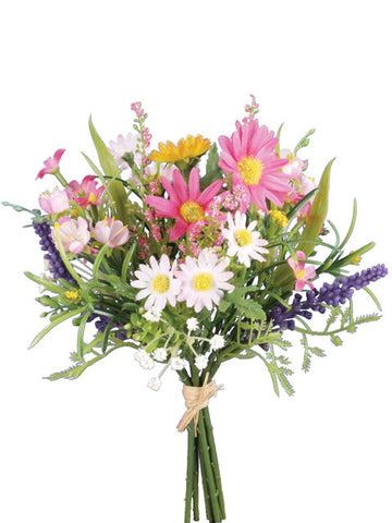 Artificial Daisy & Blossom Bundle - White