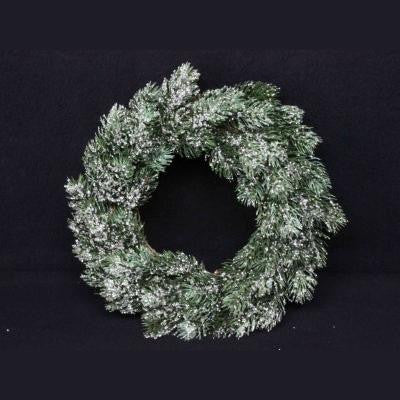 Christmas Wreath/Candle Ring, Artificial Frosted Fir, Gisela Graham