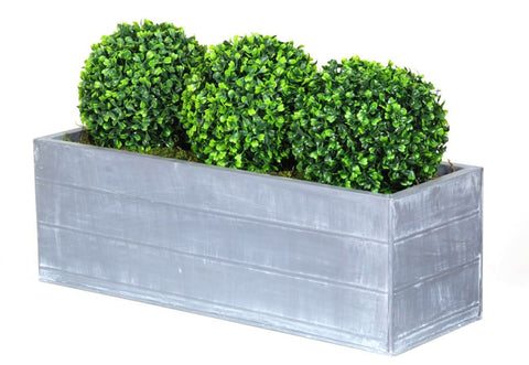 Artificial Topiary Box Ball Planter, Triple