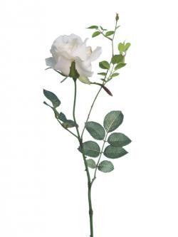 Artificial Rose Stem - White/Ivory 'Alice Rose'