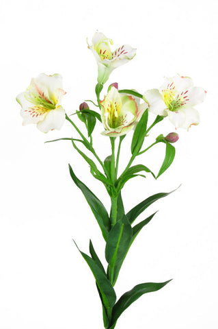 Artificial Alstromeria Spray, White