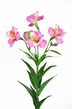 Artificial Alstroemeria Stem, Pink