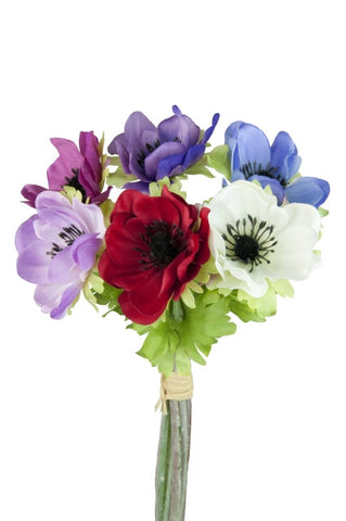 Artificial Anemone Bunch (6 stems)