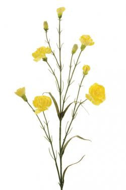 Artificial Carnation Spray, Lemon/Yellow