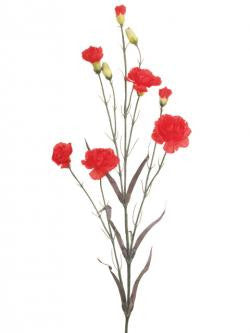 Artificial Carnation Spray, Red