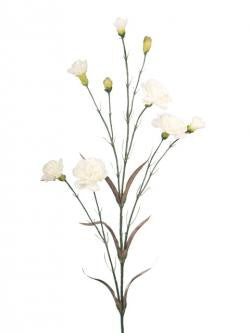 Artificial Carnation Spray, White