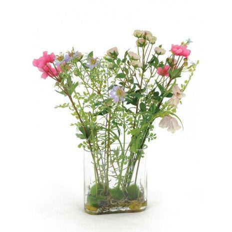 Artificial Flower Arrangement - Wild Meadow Mix in Vase (62cm)