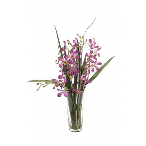 Artificial Flower Arrangement - Vanda Orchid in vase, 64cm