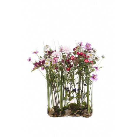 Artificial Flower Arrangement - Summer Mix in Vase (68cm)