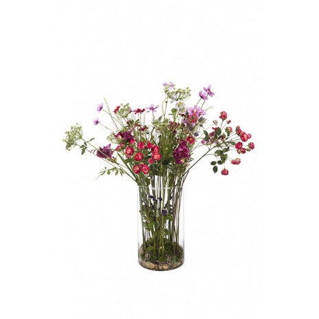 Artificial Flower Arrangement - Summer Mix in Vase (90cm)