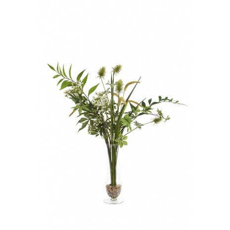Artificial Flower Arrangement - Greenery Mix Vase, 70cm