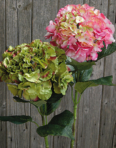 Artificial Hydrangea Stem, Rich Green