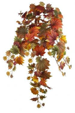 Artificial Maple Leaf Autumnal Hanging Bush