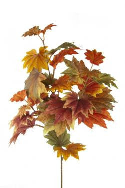 Artificial Maple Leaf Autumnal Spray