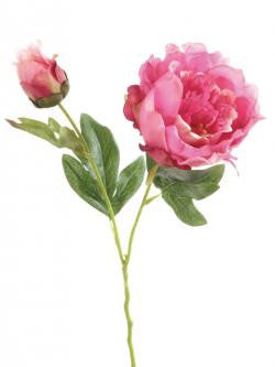Artificial Peony vibrant pink