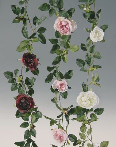 Artificial Rose Garlands, large rose heads