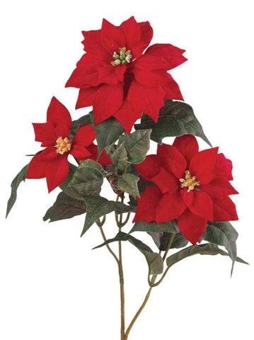 Artificial Poinsettia Spray