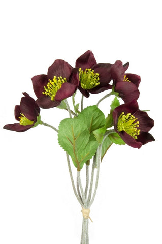 Artificial Hellebore Bunch 30cm