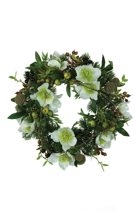 Christmas Candle Rings.Christmas Candle Ring Green Artificial Foliage Large