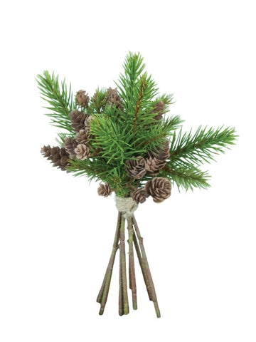Artificial Pine Foliage and Cone Bundle 24cm