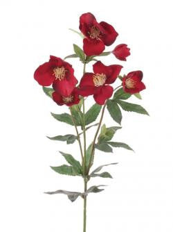 Artificial Hellebore / Christmas Rose Red