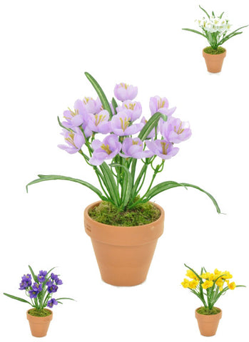 Artificial Crocus, Potted