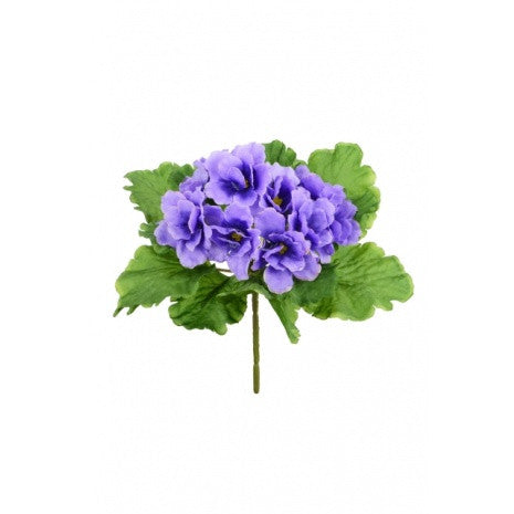Artificial African Violet Plant, Purple/Blue