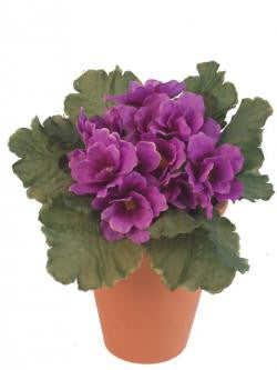 Artificial African Violet, 18cm, Potted