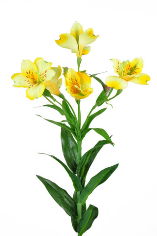 Artificial Alstroemeria Stem - Yellow