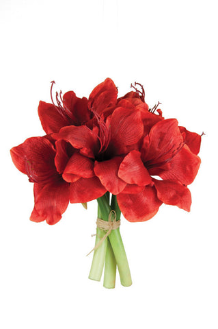 Artificial Amaryllis Bouquet (Red)