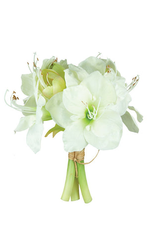 Artificial Amaryllis Bouquet (White)