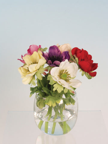 Artificial Flower Arrangement: Anemones in Vase