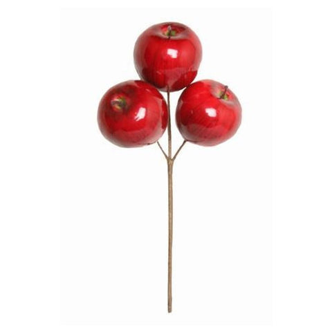 Christmas Pick, Artificial Apple Cluster 6cm (set of three)