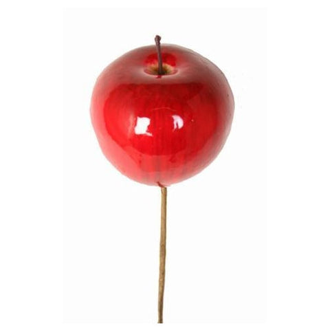 Christmas Pick, Artificial Apple 7cm (set of six)