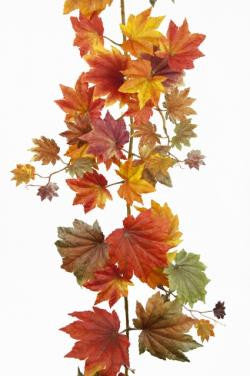 Artificial Maple Leaf Autumnal Garland