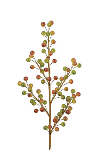 Artificial Autumnal Berry Spray, Brown/Green