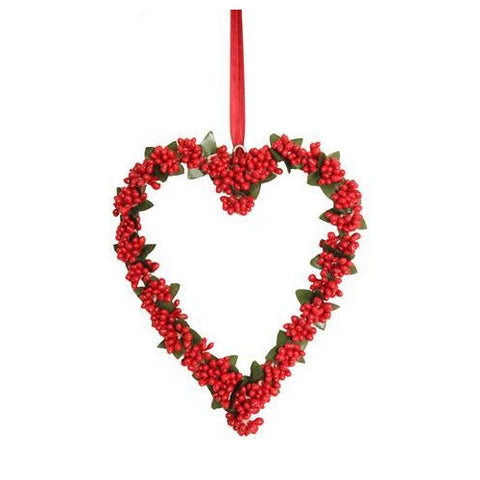 Beautiful Berry Heart Hanger Large 20cm