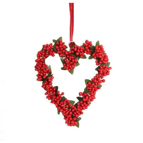 Beautiful Berry Heart Hanger Small 13cm