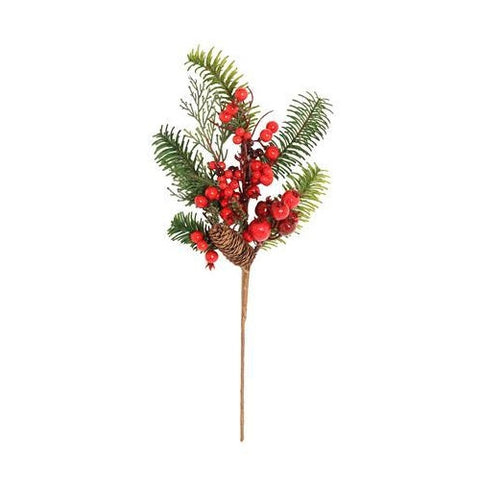 Artificial Berry & Pine Spray 50cm
