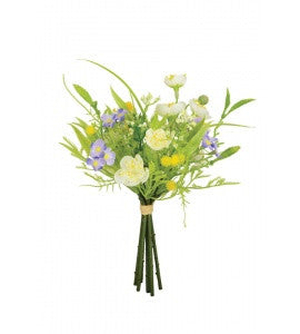Artificial Buttercup/Gyp Bundle - White
