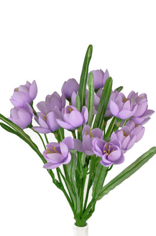 Artificial Crocus Bush, Purple